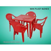 Стол-стул (комплект 1 стол 4 стул-кресло) фото