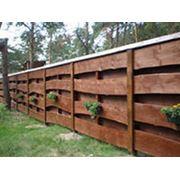 Строительство деревянных оград фото