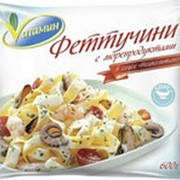 Феттучини с морепродуктами VITAMIN, 600г фото