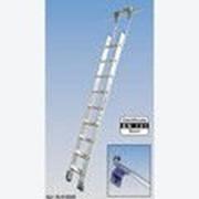 Алюминиевая лестница для стеллажей, со ступенями 7 шт для круглой шины Stabilo KRAUSE 819321 фото