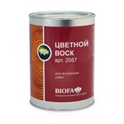 Цветной воск Biofa для деревянных стен, потолка  фото