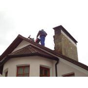 Обследование дымохода с помощью системы видеонаблюдения. фото