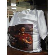 Печать на футболки бейсболки термопереносом фото