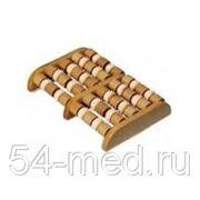 Деревянный массажер cчеты с зубчатыми валиками для ног ER-1002 фото
