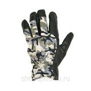 Перчатки комбинированные кожаные лайка утепл.КМФ (-) фото