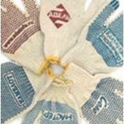 Логотип Вашей компании на рабочих перчатках. фото