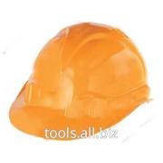 Каска защитная, оранжевая фото