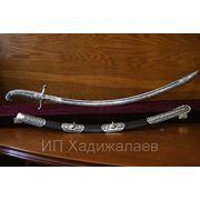 Амузгинский сварной булат Сабля серебряная фото