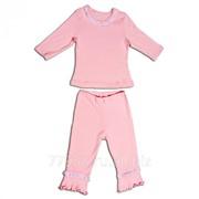 Пижама с бриджами для девочек 3690-л ластик, размер 60-116 фото