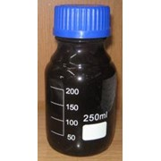 Бутыль для реактивов из темного стекла с делениями 250 мл фото