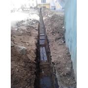 Прокладка канализации с земляными работами фото