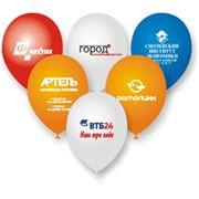 Рекламная печать на воздушных шарах фото
