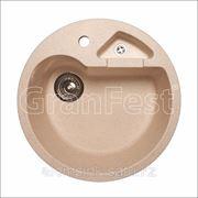 Мойка GranFest GF-R510K / круглая с дополнительной секцией фото
