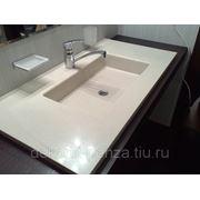 Влитые ванные раковины из камня, 14 моделей фото