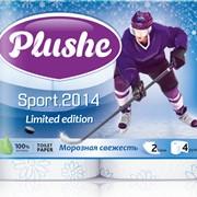 Двуслойная туалетная бумага «Хоккей» с цветным тиснением, 4 ролика по 18 метров фото