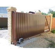 Откатные и распашные металлические ворота откатные ворота фото