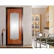 """Входная дверь """"Светлана"""" (зеркало + пескоструй) фото"""