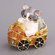 """Шкатулка """"кошка"""" 4*6 см.высота=6 см. (868978) фото"""