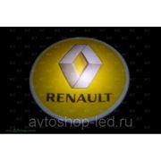 Лазерный проектор в дверь с логотипом Renault фото