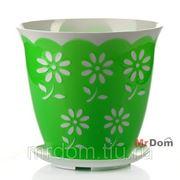 Горшок для цветов с поддоном соблазн 3 л (зеленый) (861097) фото