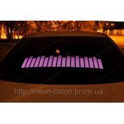 Фиолетовый Авто эквалайзер / автоэквалайзер на заднее стекла автомобиля, размером 70*16 см фото
