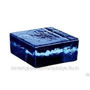 Кирпич стеклянный половинка VETROPIENO Blue 12х11,7х5,3см Италия фото