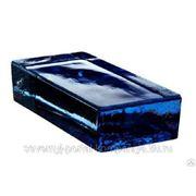 Кирпич стеклянный VETROPIENO Blue 24х11,7х5,3см Италия фото
