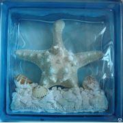 Стеклоблок эксклюзивный морская тематика МТ_001(Г) 190х190х80мм фото