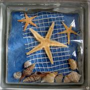 Стеклоблок эксклюзивный морская тематика МТ_009(Е) 190х190х80мм фото