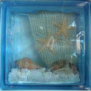 Стеклоблок эксклюзивный морская тематика МТ_004(Л) 190х190х80мм фото