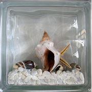 Стеклоблок эксклюзивный морская тематика МТ_003(А) 190х190х80мм фото