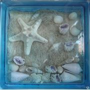 Стеклоблок эксклюзивный морская тематика МТ_009(Ш) 190х190х80мм фото