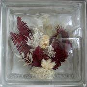 Стеклоблок эксклюзивный флористика РТ_001(В) 190х190х80мм фото
