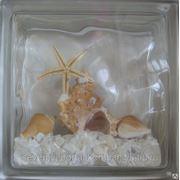 Стеклоблок эксклюзивный морская тематика МТ_003(Н) 190х190х80мм фото