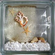 Стеклоблок эксклюзивный морская тематика МТ_006(А) 190х190х80мм фото