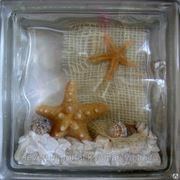 Стеклоблок эксклюзивный морская тематика МТ_004(Е) 190х190х80мм фото