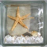 Стеклоблок эксклюзивный морская тематика МТ_004(З) 190х190х80мм фото