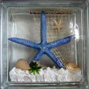 Стеклоблок эксклюзивный морская тематика МТ_004(Б) 190х190х80мм фото