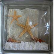 Стеклоблок эксклюзивный морская тематика МТ_021(Г) 190х190х80мм фото