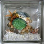 Стеклоблок эксклюзивный морская тематика МТ_015(А) 190х190х80мм фото