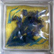 Стеклоблок эксклюзивный флористика РТ_013(В) 190х190х80мм фото