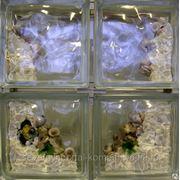 Стеклоблок эксклюзивный морская тематика МТ_019(Б) 190х190х80мм фото