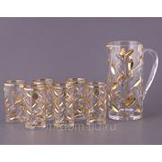 """Набор для воды """"лаурус"""" 7 пр.: кувшин+6 стаканов 1300/250 мл. (686428) фото"""