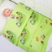 Одеяло цветное 118х118 см фото