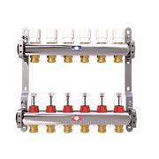 Коллектор для системы отопления ITAP на 6 контуров с расходомерами фото