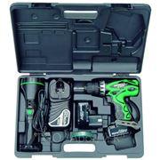 Аккум.дрель Hitachi DS18DVF3-TB 18.0В 2х2.0Ач 13мм 0-400/1200об/мин 45Нм в кейсе+фонарик