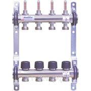 Коллектор для системы отопления с расходомерами KaMo на 5 выходов фото