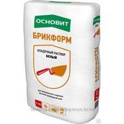 Кладочный раствор белый ОСНОВИТ БРИКФОРМ Т-111 (25 кг) фото