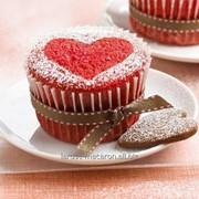 Маффины клубника с печеньем сердечко заказ от 6 штук фото