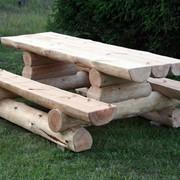 Мебель деревянная садовая из сруба фото